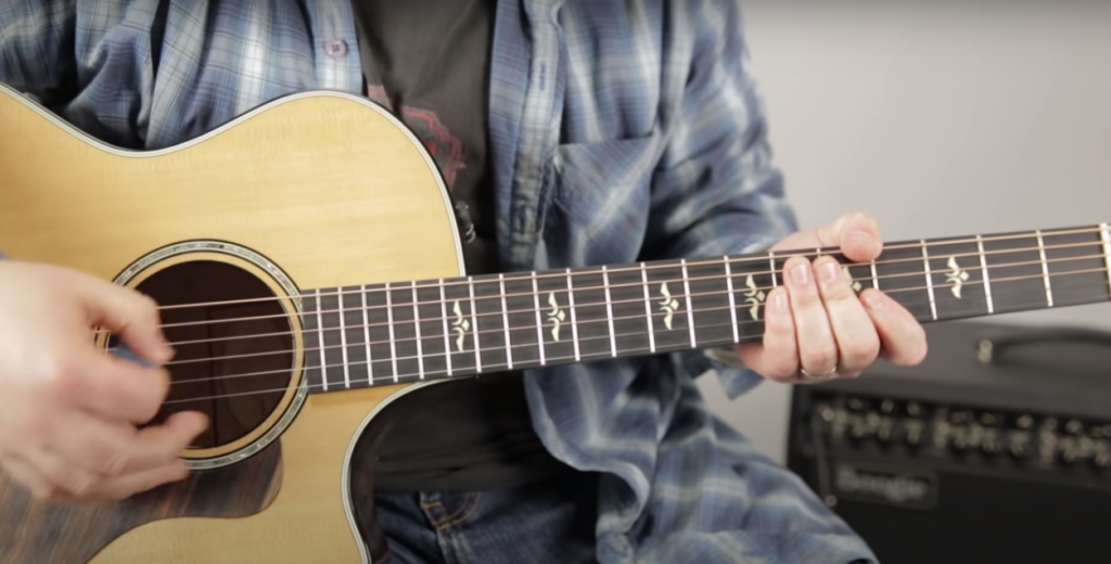 Keep a nice smooth strumming hand when starting to learn guitar.